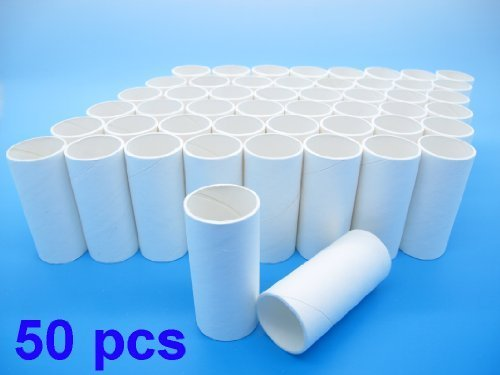 Pack of 50 Disposable Cardboard Mouthpieces (Compatible for Contec Spirometer SP10) Toilet Paper Tubes