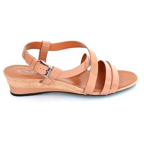 Tods Damer Platt Sandal Xxw0ph0e490md2m018 Rosa