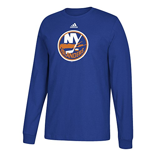 fan products of NHL New York Islanders Adult Unisex Primary Logo Stand Out L/S Tee, Medium, Blue