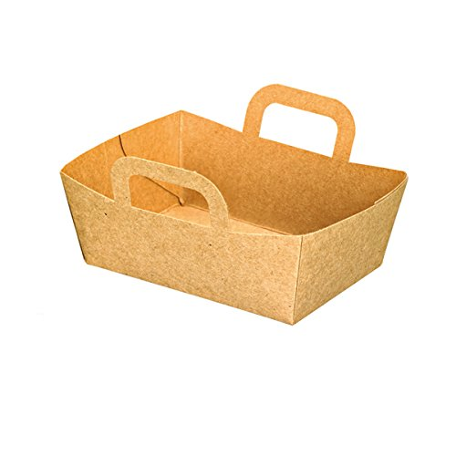 PacknWood Kraft Mini Take-Out Meal Basket, 3.75'' x 2.75'' x 1.4'', Brown (Case of 500) by PacknWood