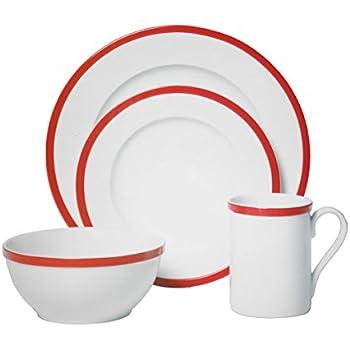 Guy Fieri Bistro 16 Piece Dinnerware Set (Red Bistro)  sc 1 st  Amazon.com & Amazon.com | Guy Fieri Bistro 16 Piece Dinnerware Set (Red Bistro ...