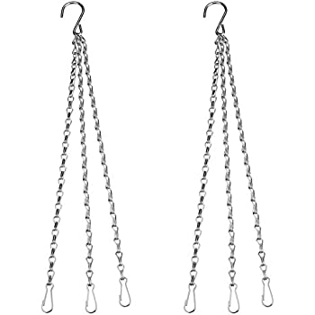 SIENOC 2 Packs Replacement Iron Hanging Chain for Garden Planter Flower Pot Basket