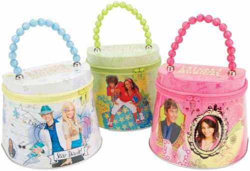 High School Musical Tin Tote w//Zipper White or Green