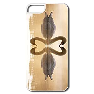Funny Loving Swans Pc Cover For IPhone 5/5s