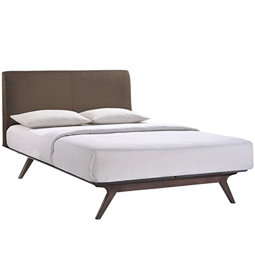 modway tracy king wood bed in cappuccino brown