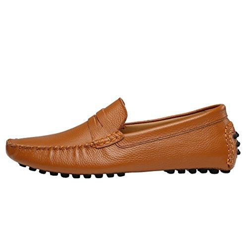 Alden Cape (Snowman Lee Men's Fashion Shoes Boat Shoe Mocassins With Nothing Decorative Pure Color 8 US)