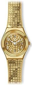Swatch Women's YSG135 Dance Floor Year-Round Analog Quartz Gold Watch