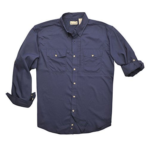 Expedition Long Sleeve Shirt - Backpacker Expedition Travel Shirt, Navy, X-Large