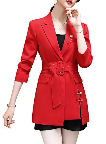 SUSIELADY Womens Casual Jacket Casual Work Blazer Office Jacket Slim Fit Blazer for Business Lady