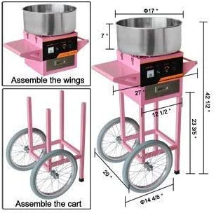 Malvaviscos en forma comercial GOWE CE CANDY FLOSS Máquina para hacer algodón de carrito: Amazon.es: Bricolaje y herramientas