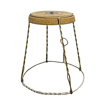 Vinotemp Champagne Cork Table, Metal - This quality oversized Champagne cork serves as a unique and innovative table or decorative furnishing This sturdy piece of furniture is made entirely of compressed cork While this can be used indoors and outdoors, it is recommended that it is kept in a sheltered, dry area - living-room-furniture, living-room, end-tables - 41D%2BBfNciCL. SS400  -