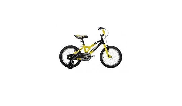 Monty 104 - Bicicleta de montaña para niño, Color Amarillo, 12