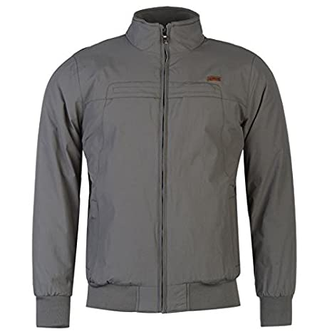 Lee Cooper Bomber chaqueta para hombre gris chaquetas abrigos Outerwear, gris, small: Amazon.es: Deportes y aire libre