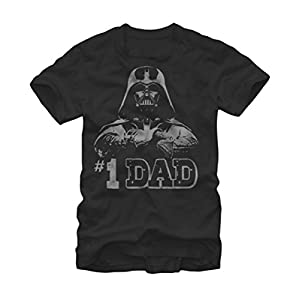 Star Wars Men's Rogue One Darth Vader #1 Dad T-shirt