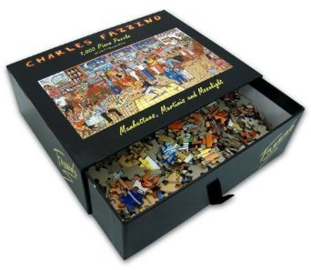 MANHATTAN, MARTINIS AND MOONLIGHT Puzzle 1000 Piece by Charles Fazzino