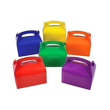 Amazon Adorox 24 Assorted Bright Rainbow Colors Cardboard Favor