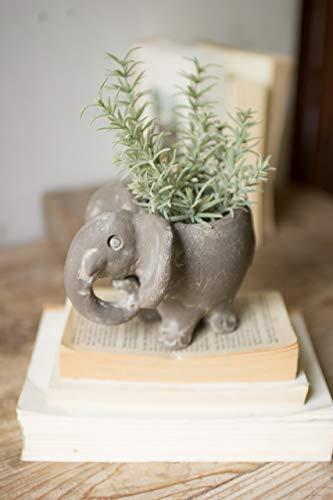 BORNEO DECOR H3336K Clay Elephant Planter (Elephant Clay)