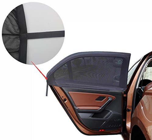 Car Window ShadeTo Protection Your Child ,Rear Baby Window Sun Shade Suits Both Square and Rectangular Windows. Especially Back Row passenger And Babies. (Pack of (Burnetts Costume)