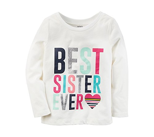 Carter's Girls' 12M-8 Long Sleeve Big Sis Tee 18 Months