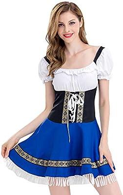 hahashop2 Vestido Festivo para Mujer, para Oktoberfest, Vestido de ...