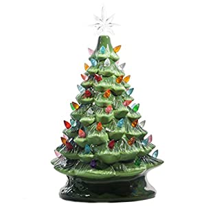 ReLive Christmas is Forever Lighted Tabletop Ceramic Tree 11