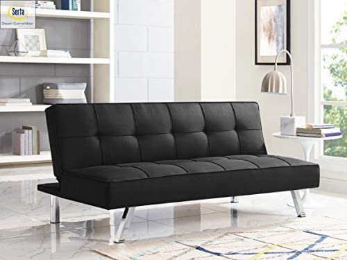 Serta RNE-3S-BK-SET Rane Collection Convertible Sofa