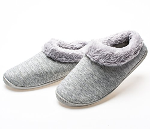 Anti Women's Sole YQXCC Slippers House Skid Cotton Comfort Gray1 Indoor qtxnnFf