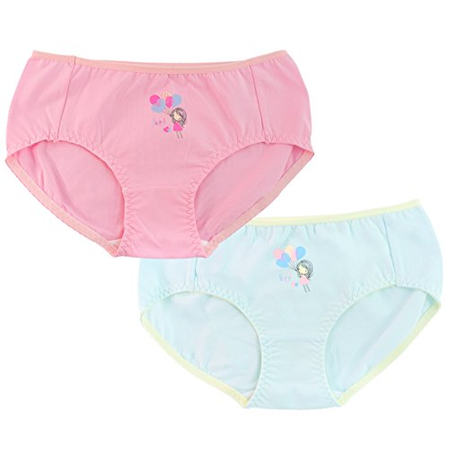Ivy's Panty Cute Women's Hipster Panties (2-Pack) Girls, Teens and Ladies - Pink and Blue with Happy Balloon Print (L)