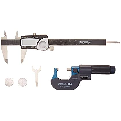 Image of Fowler FOW74-004-201 Micrometer (Electronic Caliper and E-Z Read Set) Digital Calipers