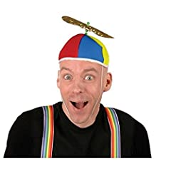 Do you need some extra attention in your life? Be careful what you wish for when you put on this beanie propeller cap! The bright colors of the Propeller Beanie Hat, along with the spinning propeller, are sure to put smiles on the people all ...