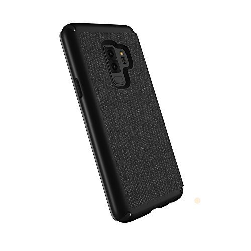 Speck Products Presidio Folio Case Samsung Galaxy S9 Plus, Heathered Black/Black/Slate Grey by Speck