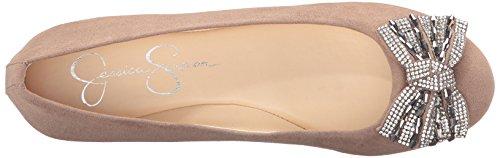 Jessica Simpson Dames Bewegend Ballet Plat Warm Taupe