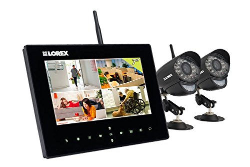 Lorex LW2732 Live LCD SD Recording Monitor with Two Wireless Cameras (black) (Lorex Live Wireless Video)