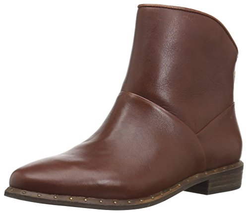 UGG Women's Bruno Ankle Bootie, Mid Brown, 9.5 M US (Boots Leather Women Uggs)