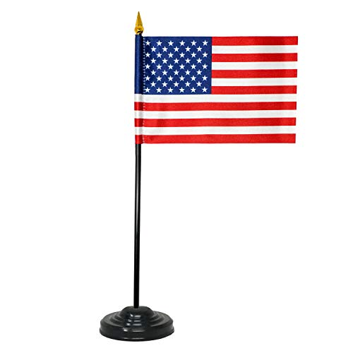 (Small American Flag - Mini American Flag with Stand)