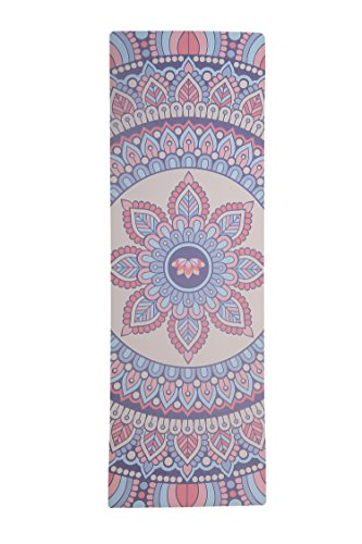 Cheap Amcomfy Yoga Mat,Luxurious Non-slip Yoga Mat,Grips More With Sweat,Gorgeous Microfiber Printed Designs – Beautiful and Durable Excersize Mat, Ideal for Bikram, Hot Yoga (Flower, 72inx24inx3.5mm)