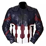 SALTONI Avengers Infinity War Captain America Movie 2018 Jacket (XL)