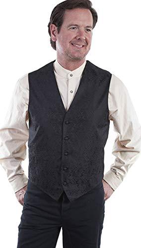 (Scully Men's RW093NBX Classic Paisley Vest, Black -)