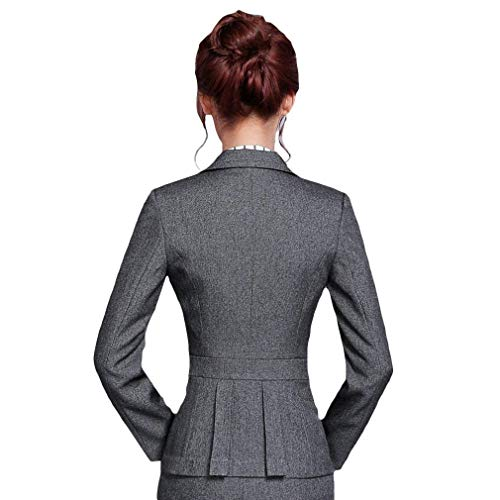 Alta Grazioso Donna Di Qualità Slim Ovest Tailleur Bavero Fit Manica Coat Grau Button Da Giacca Casual Lunga Giaccone Business Autunno Stlie axZAdxq7