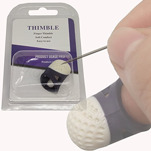 - HONEYSEW Soft Comfort Thimble Two Size For Choose (Medium Size)