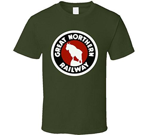 Great Northern Railway Railroad Logo T Shirt XL Military ()