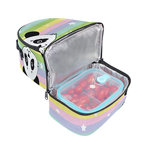 panda térmica con ajustable el para para correa de diseño Alinlo almuerzo Bolsa hombro el 8Bx6qw0