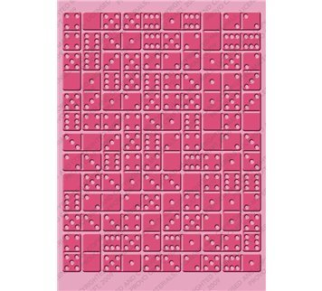 Cuttlebug 5-Inch-by-7-Inch Embossing Folder, Dominos by Cuttlebug