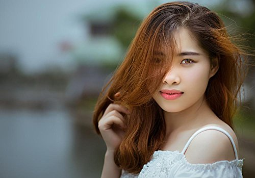 - Gifts Delight Laminated 34x24 inches Poster: Viet NAM Vietnamese Asian Color Nature Travel White People Background Beauty Sad Hair Photo Girl Fashion Each Sexy
