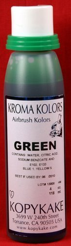 Green Airbrush Food coloring by Kroma Kolor