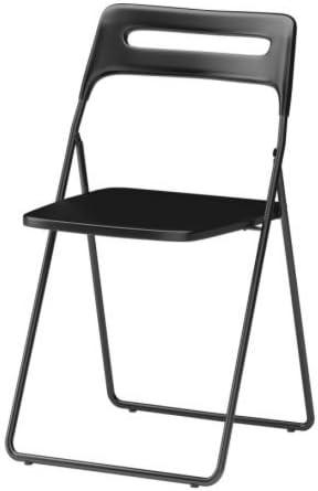 Sedie Pieghevoli Imbottite Ikea.Ikea Nisse Folding Chair Black Amazon It Casa E Cucina