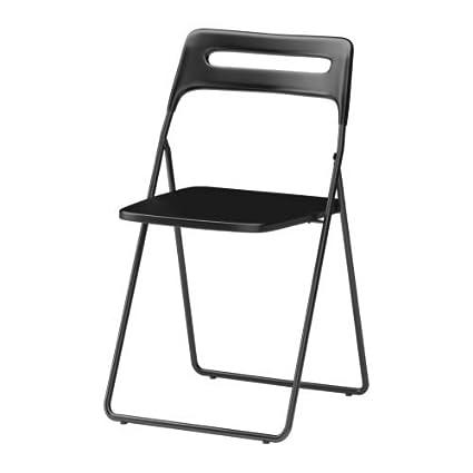 Ikea Sedie Pieghevoli Nisse.Ikea Nisse Folding Chair Black Amazon It Casa E Cucina