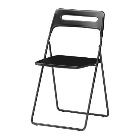 Ikea Nisse - Silla Plegable, Color Negro: Amazon.es: Hogar