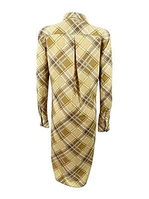 Lauren Ralph Lauren Women's Belted Plaid Crepe Shirtdress (Multi, 6)