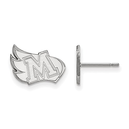 Meredith College Ring - Beautiful Sterling silver 925 sterling Sterling Silver Rh-plated LogoArt Meredith College Small Post Earrings